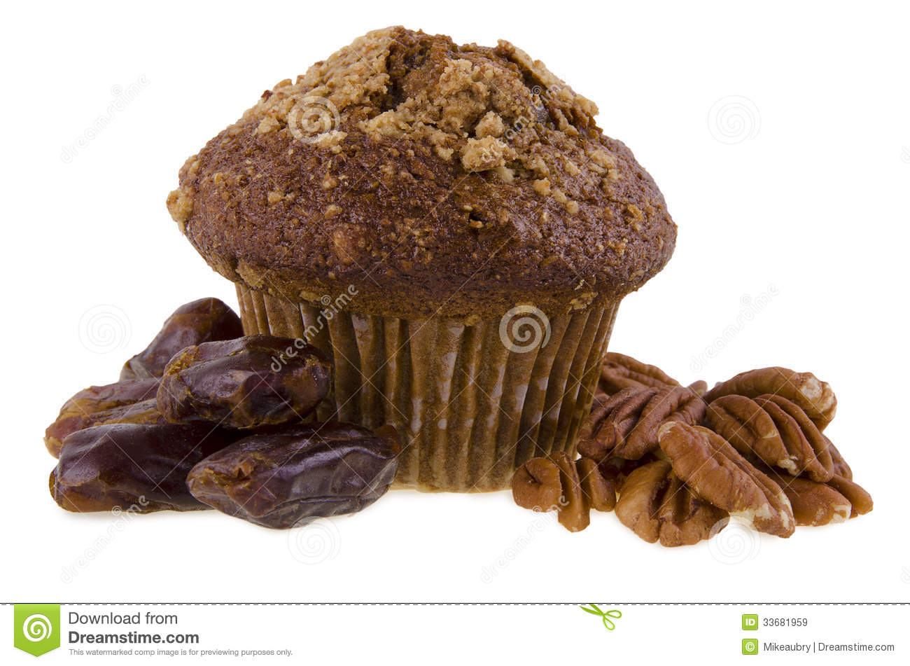 Date and nuts muffin