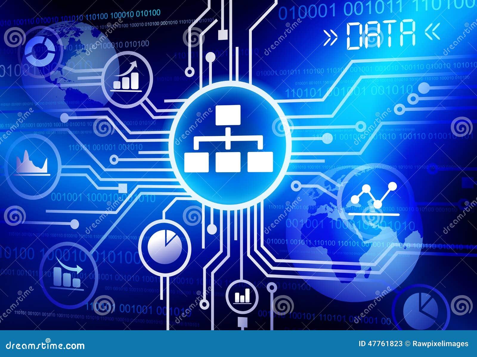 Daten-Informationen Infographic-Technologie-Verbindungskonzept