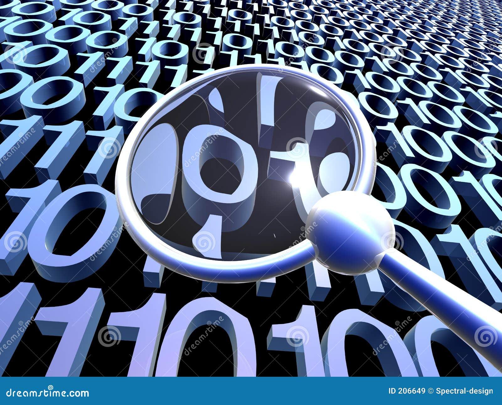 daten pr fen blau 2 stock abbildung illustration von code 206649. Black Bedroom Furniture Sets. Home Design Ideas