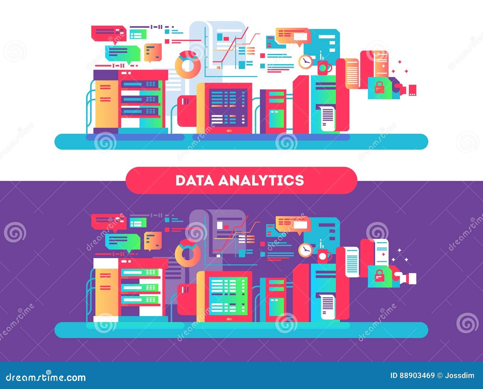 Datenanalytik entwirft flach