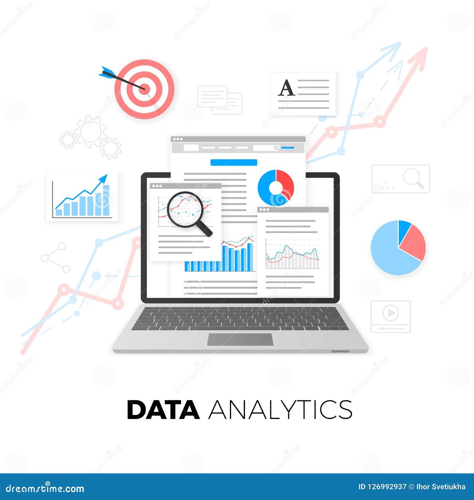 Datenanalytikkonzept SEO Optimierung Begriffsbild mit Schlüsselwortwolke um SEO Zeichen SEO-Inhaltsmarketing Netzanalytikdesign V