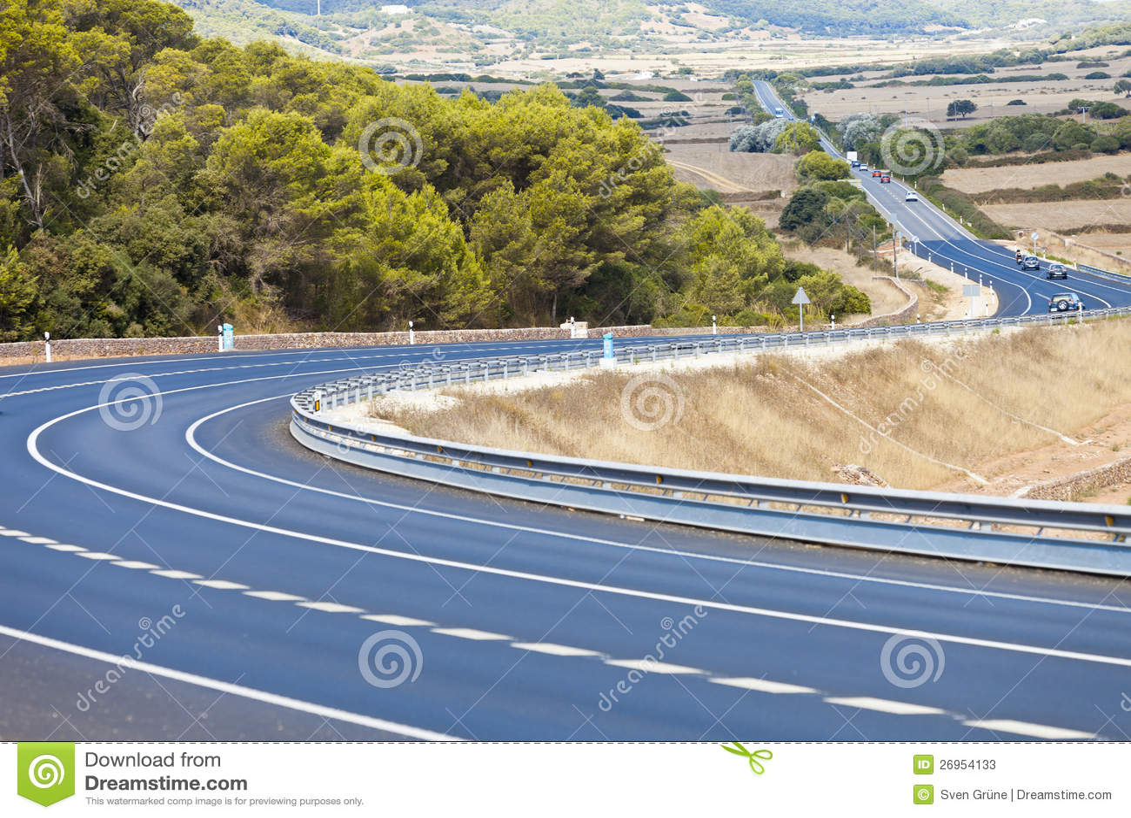 Download Datenbahn von Minorca stockbild. Bild von beruhigen, land - 26954133