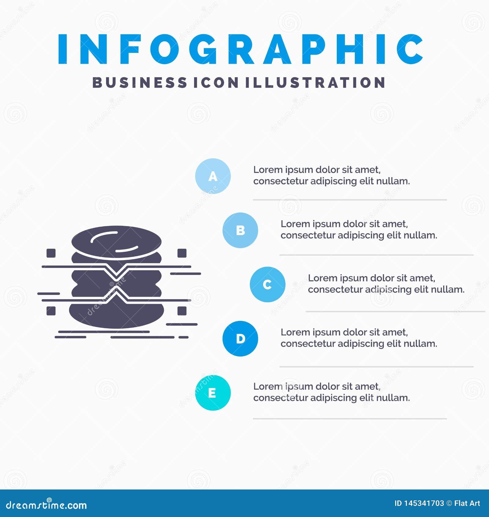 Datenbank, Daten, Architektur, infographics, ?berwachung Infographics-Schablone f?r Website und Darstellung Graue Ikone des GLyph