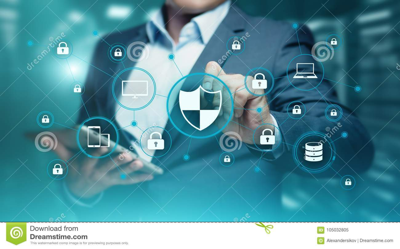 Datenschutz Internetsicherheits-Privatleben-Geschäfts-Internet-Technologie-Konzept