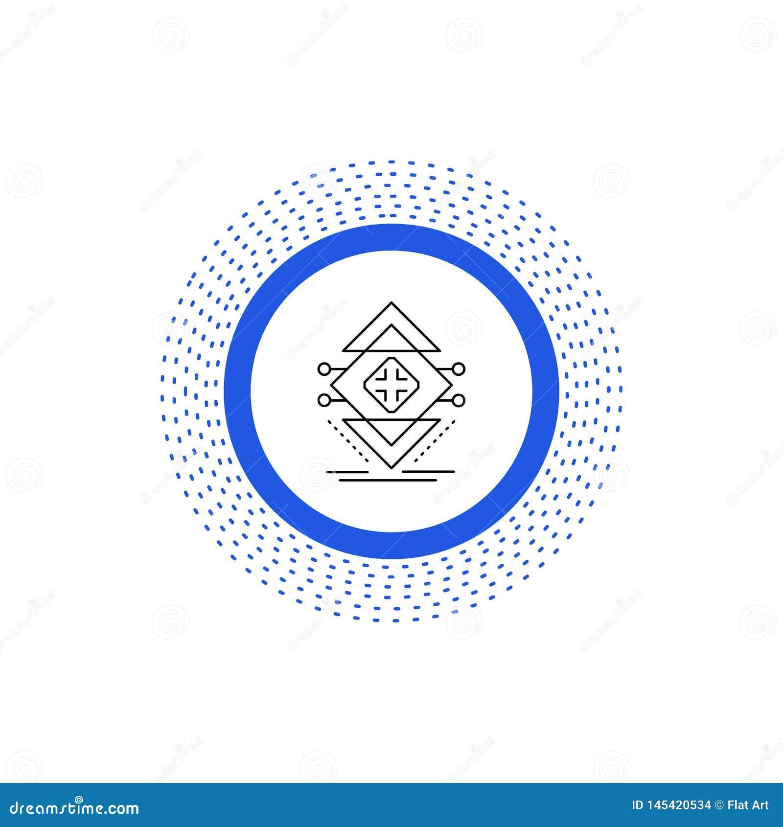Datenverarbeitung, Daten, Infrastruktur, Wissenschaft, Struktur Linie Ikone Vektor lokalisierte Illustration