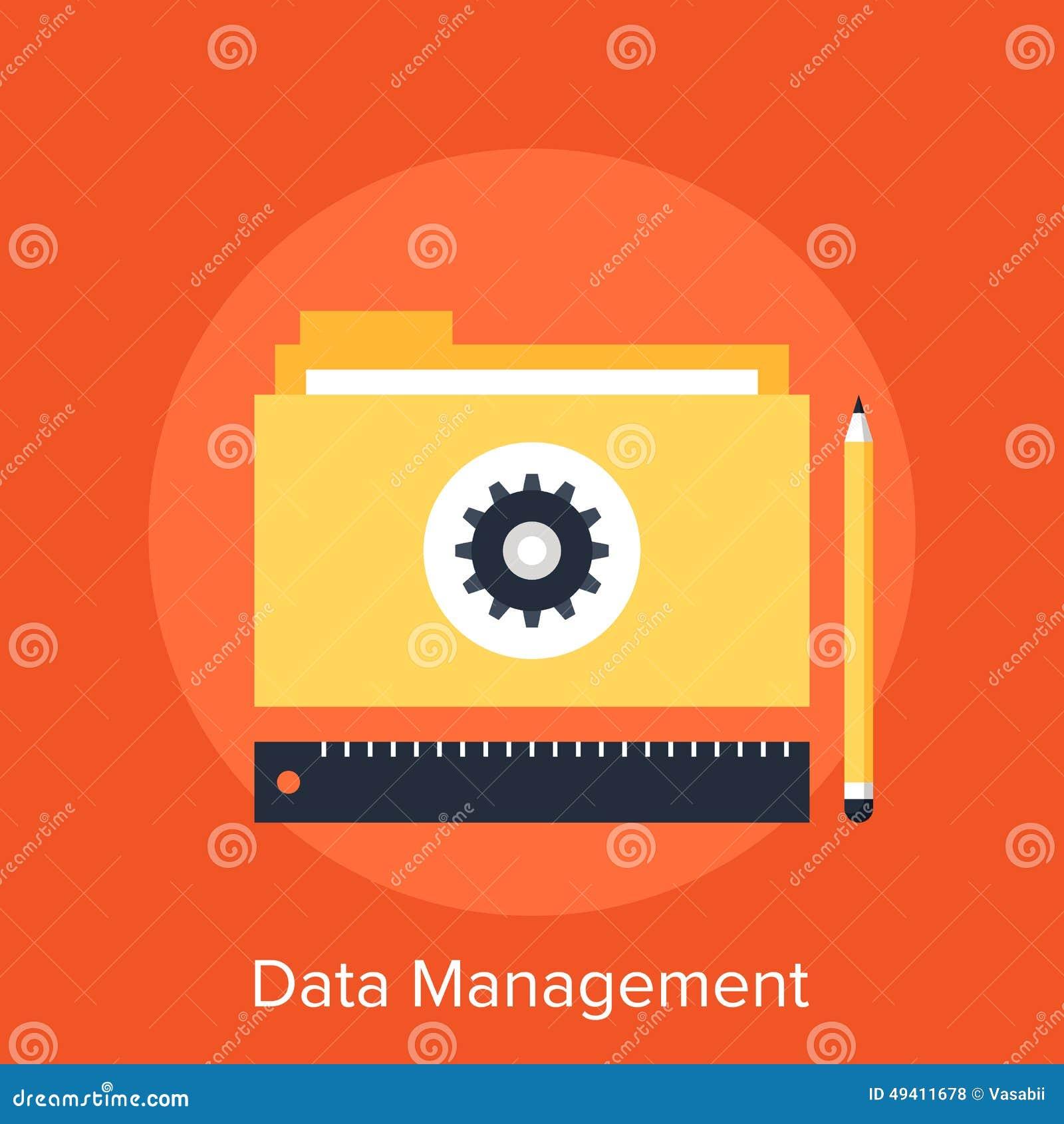 Download Datenverwaltung vektor abbildung. Illustration von projekt - 49411678