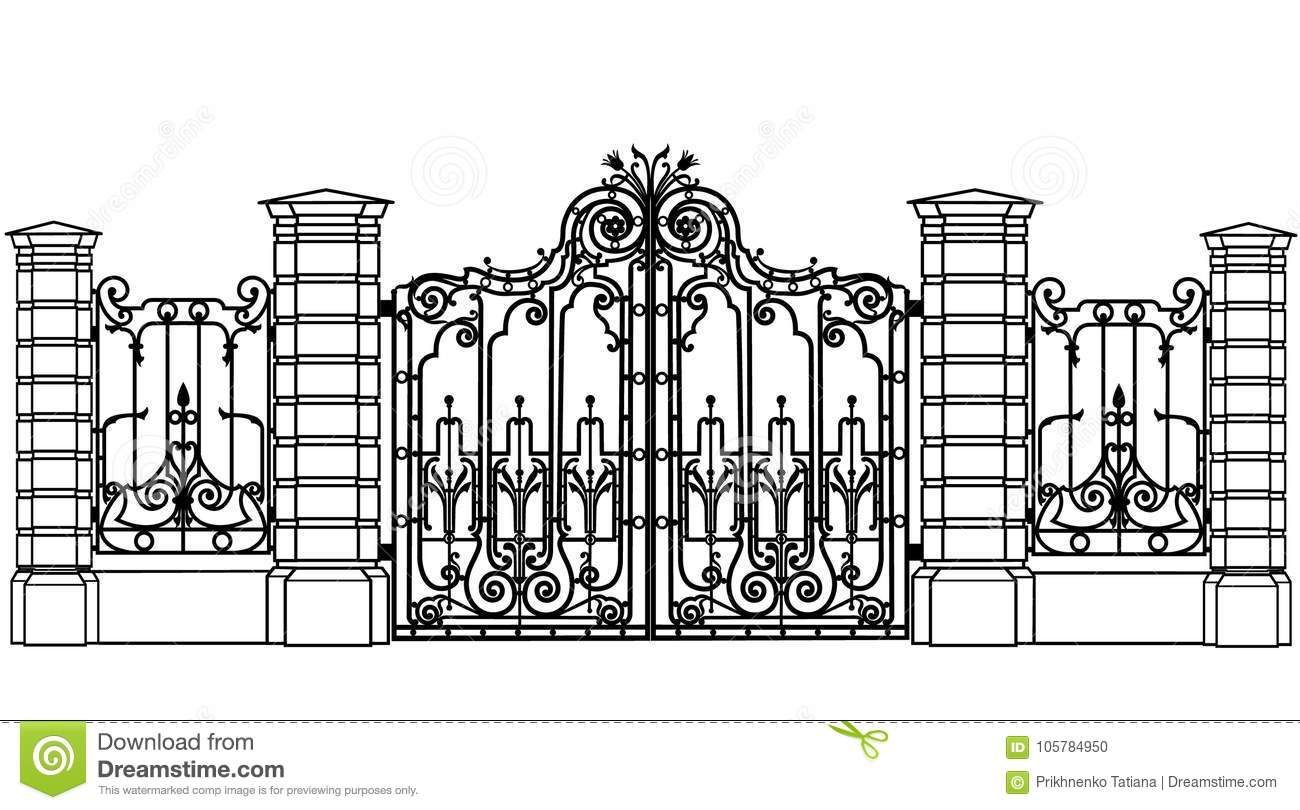 Dates and fences stock vector  Illustration of illustration