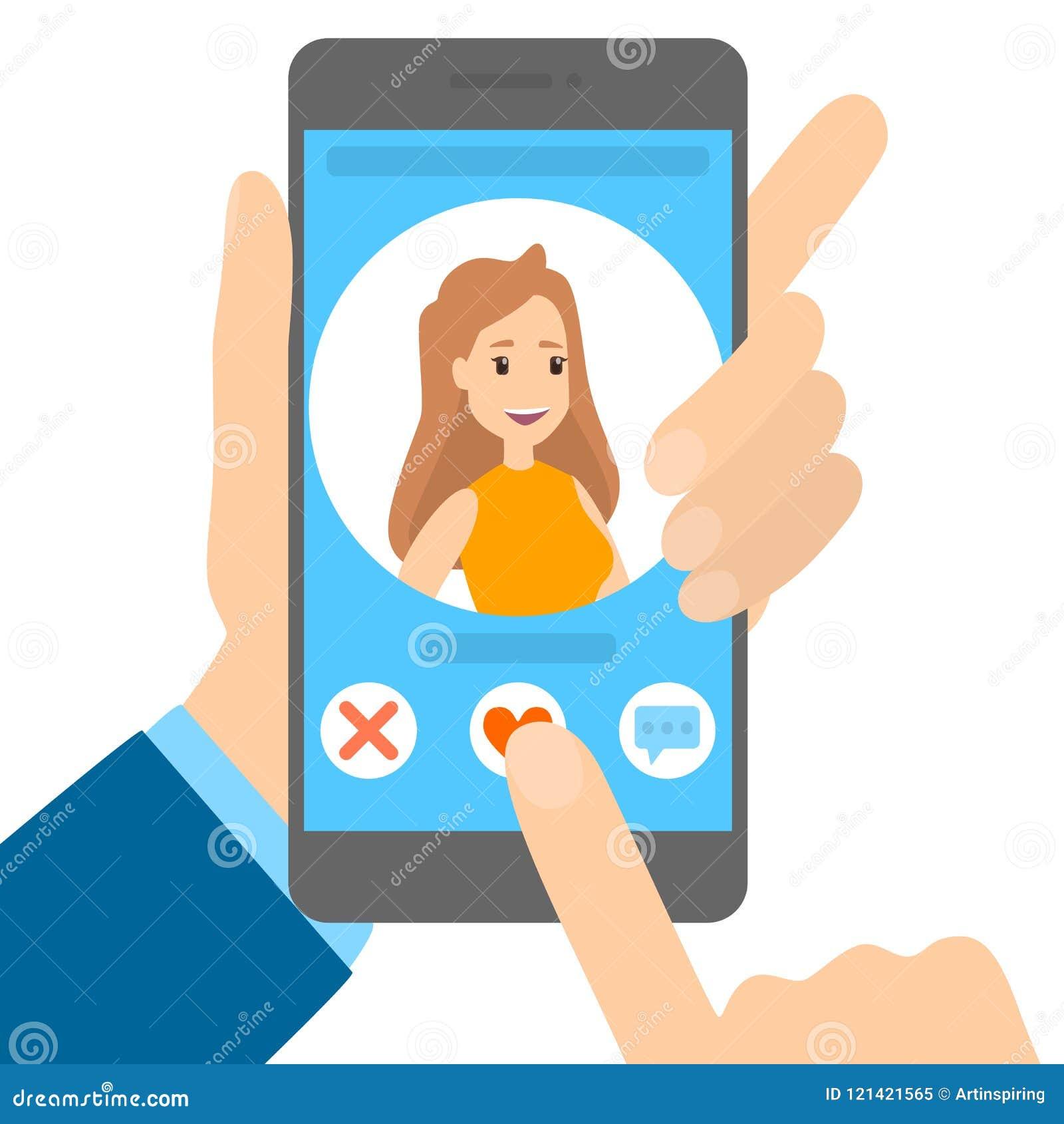 Datierungs-APP am Telefon