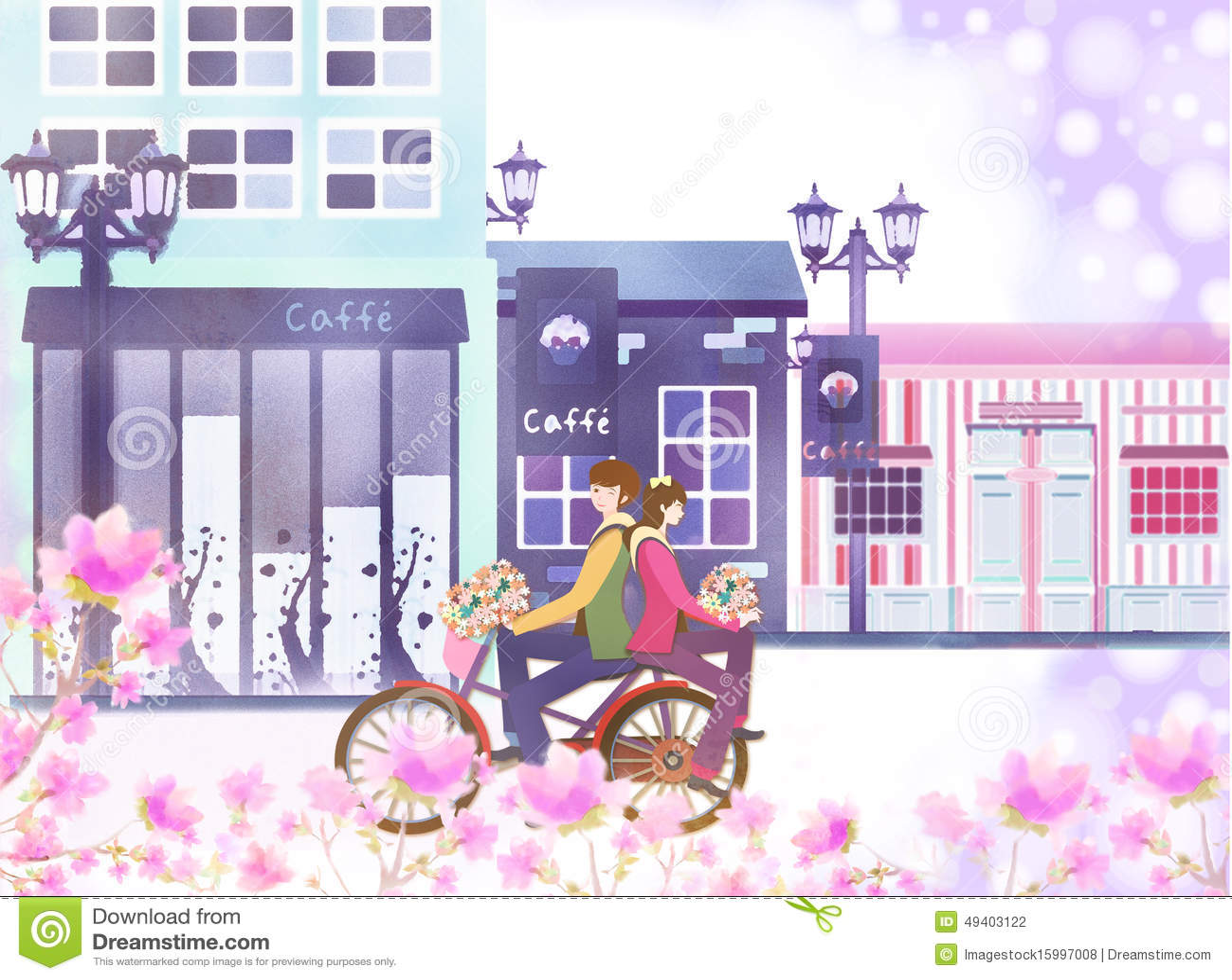 Download Datierungspaare stock abbildung. Illustration von downtown - 49403122