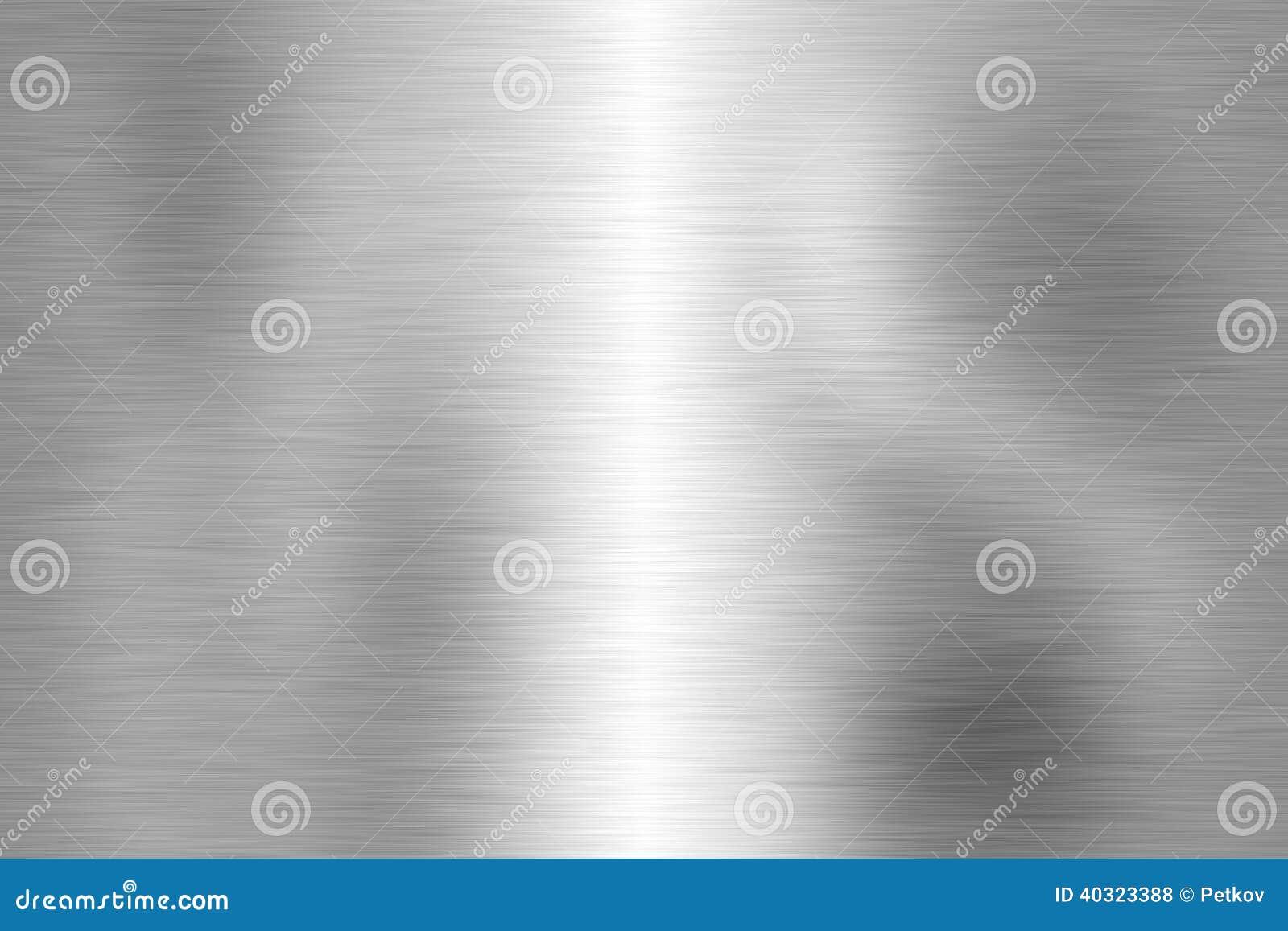 Datilografe o close up escovado da estrutura do metal