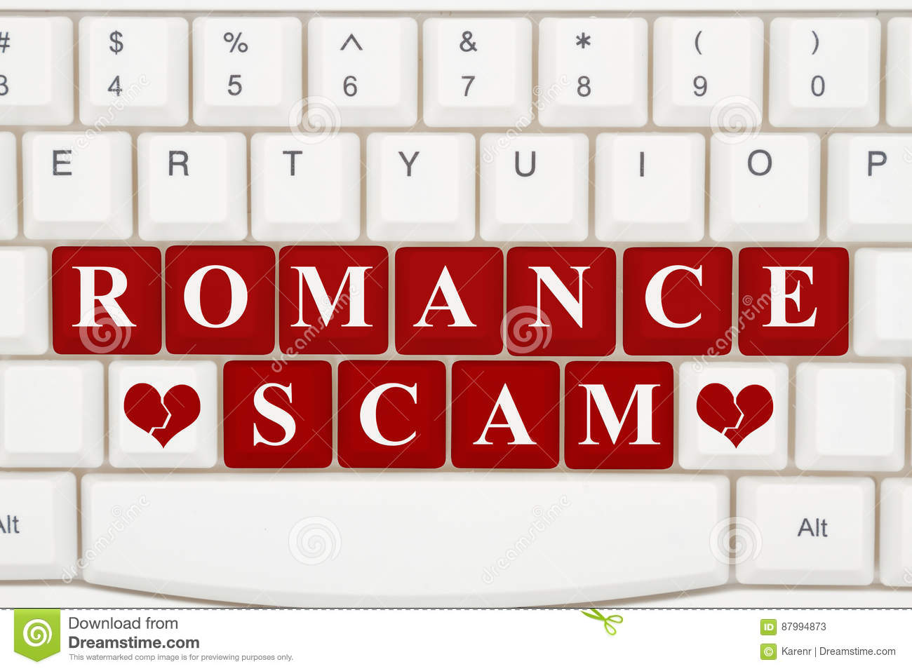 Text dating scam