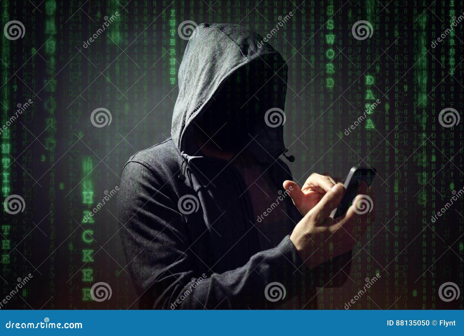 Datoren hacker med mobiltelefonen