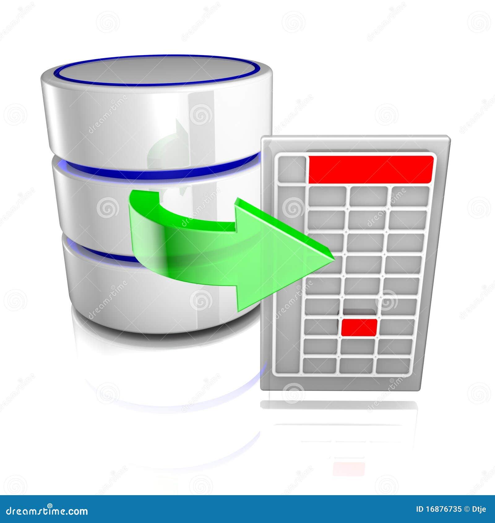 Datos de la exportación de una base de datos