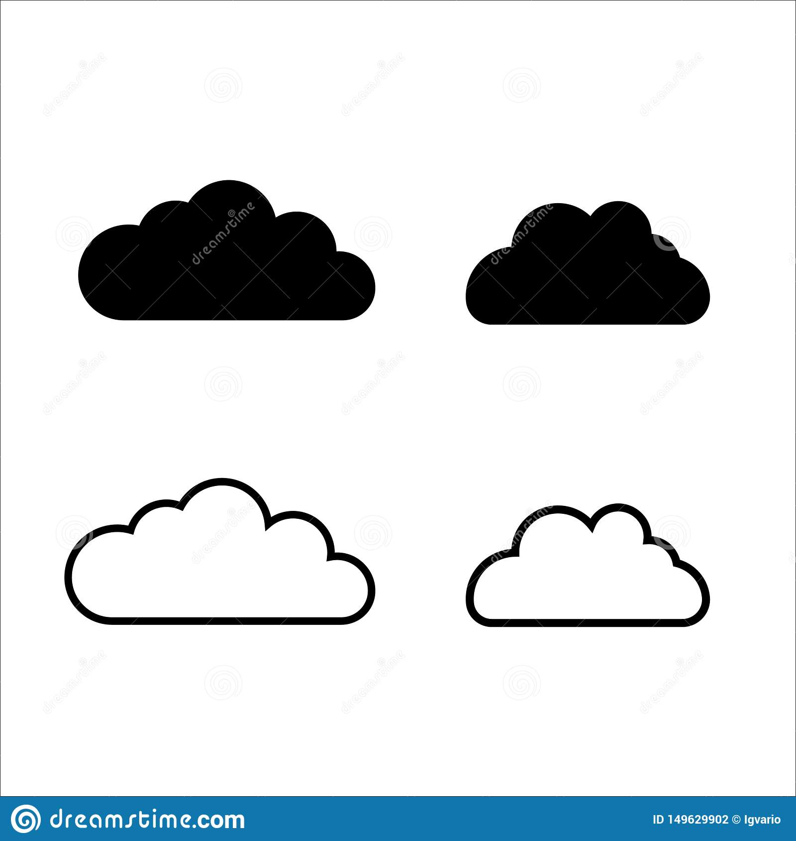 Datos de la nube y línea de la tecnología