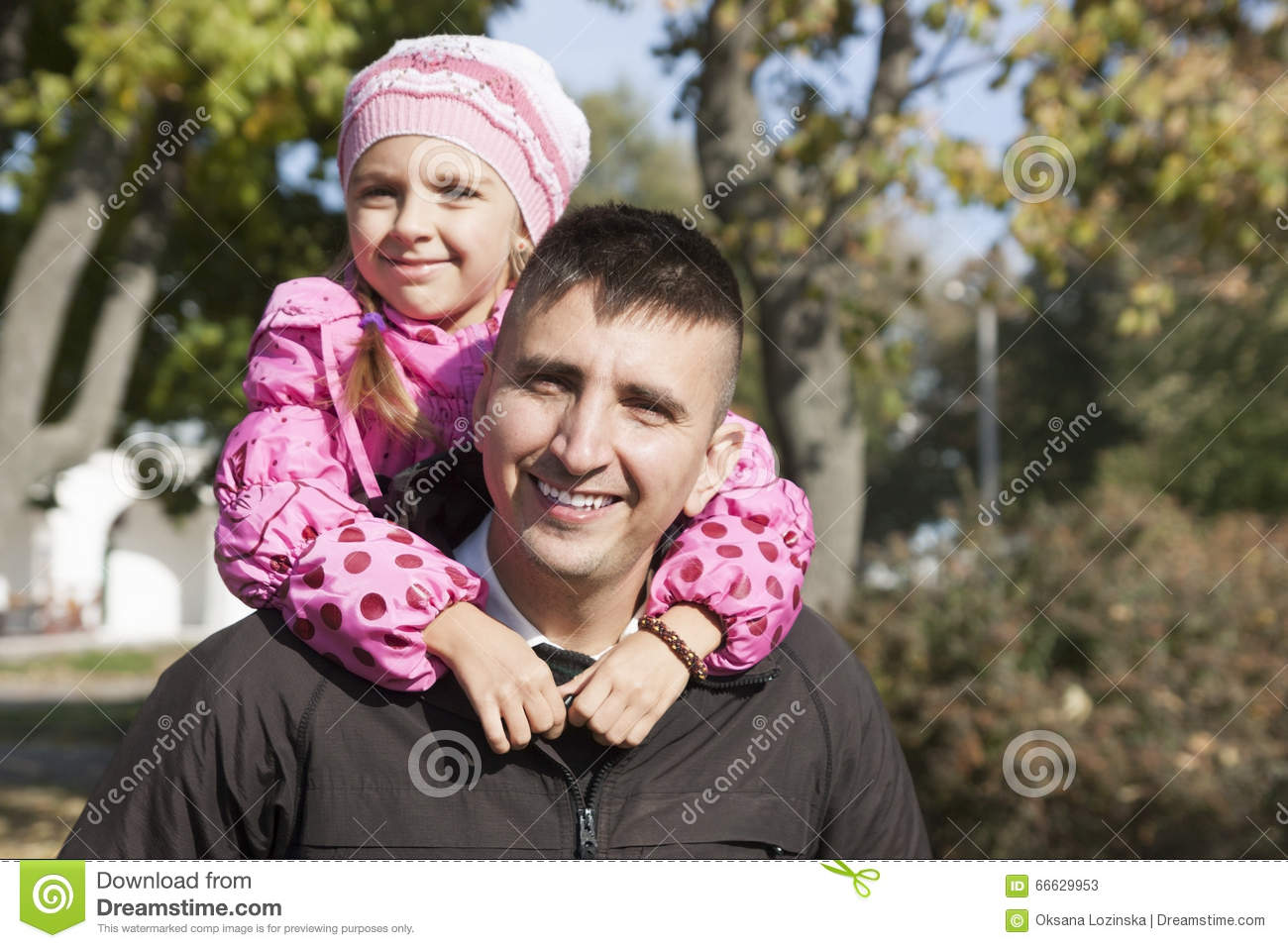 Daughter Hugging Her Father Stock Image - Image 66629953-5906