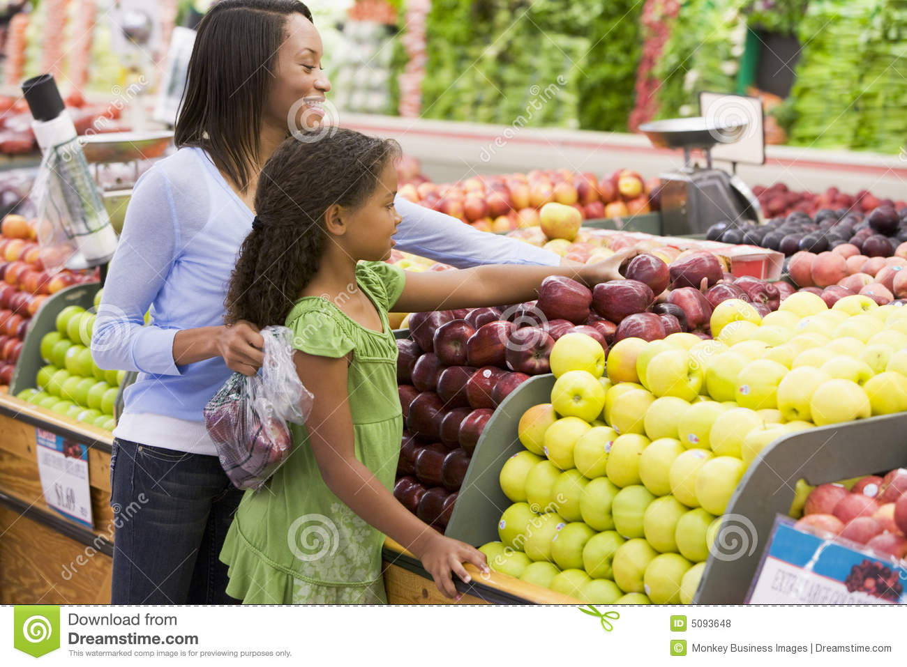 Daughter mother produce section