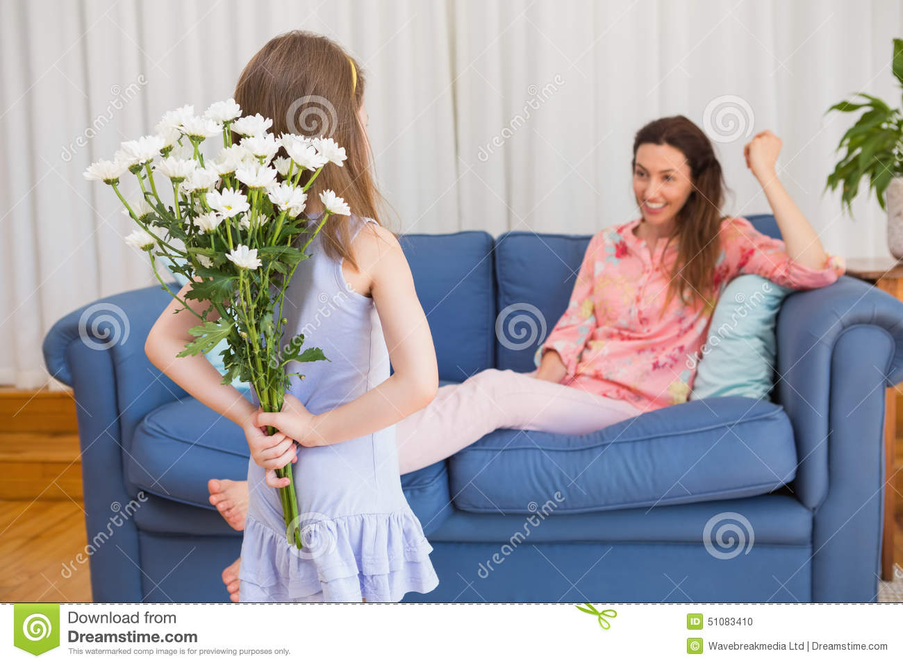 surprising dream living room pool | Daughter Surprising Mother With Flowers Stock Photo ...