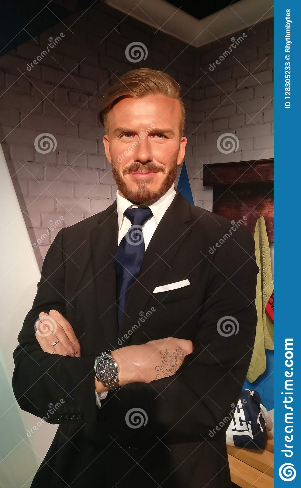David Beckham an Madame Tussauds