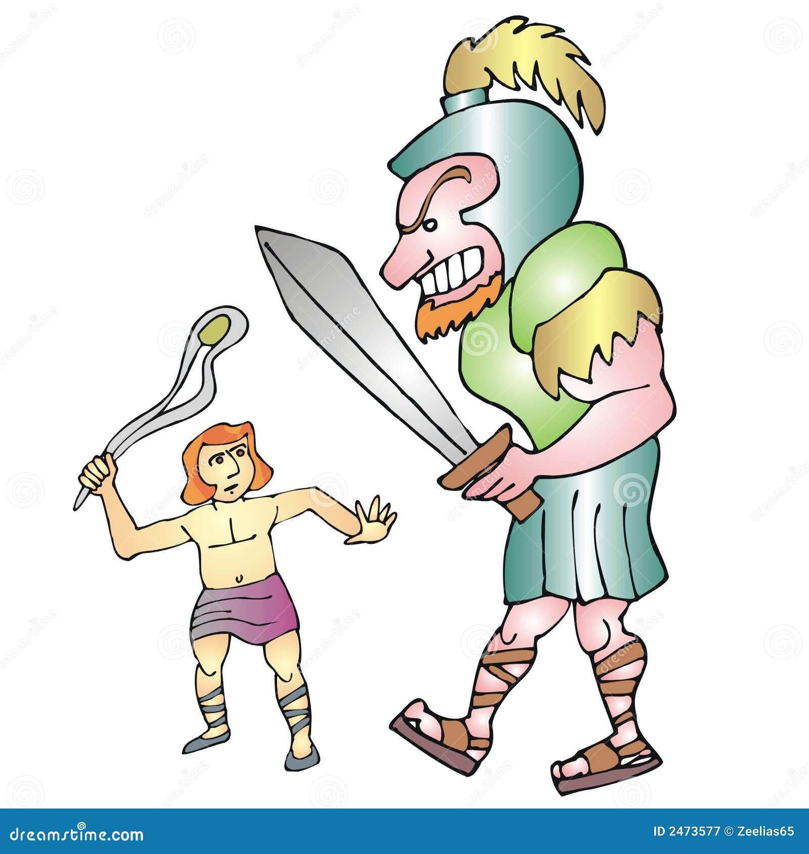 David en goliath vector illustratie. Illustratie bestaande ...  Goliath Clipart