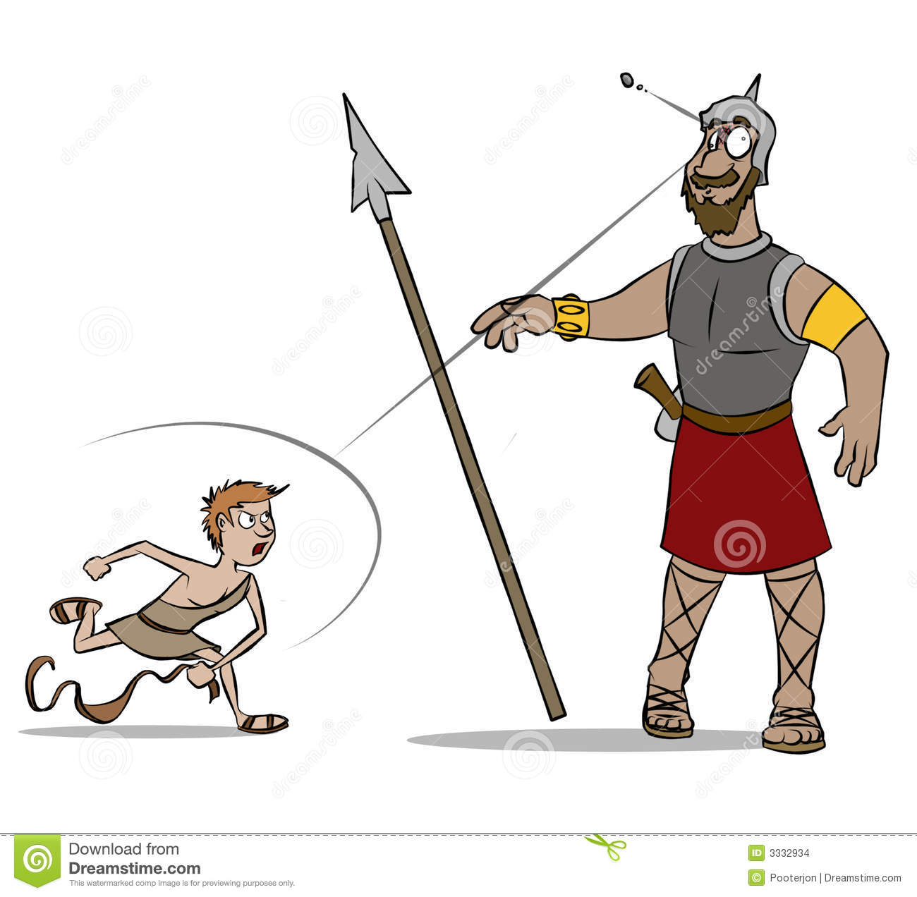 David And Goliath Color Stock Illustration Image Of Fight