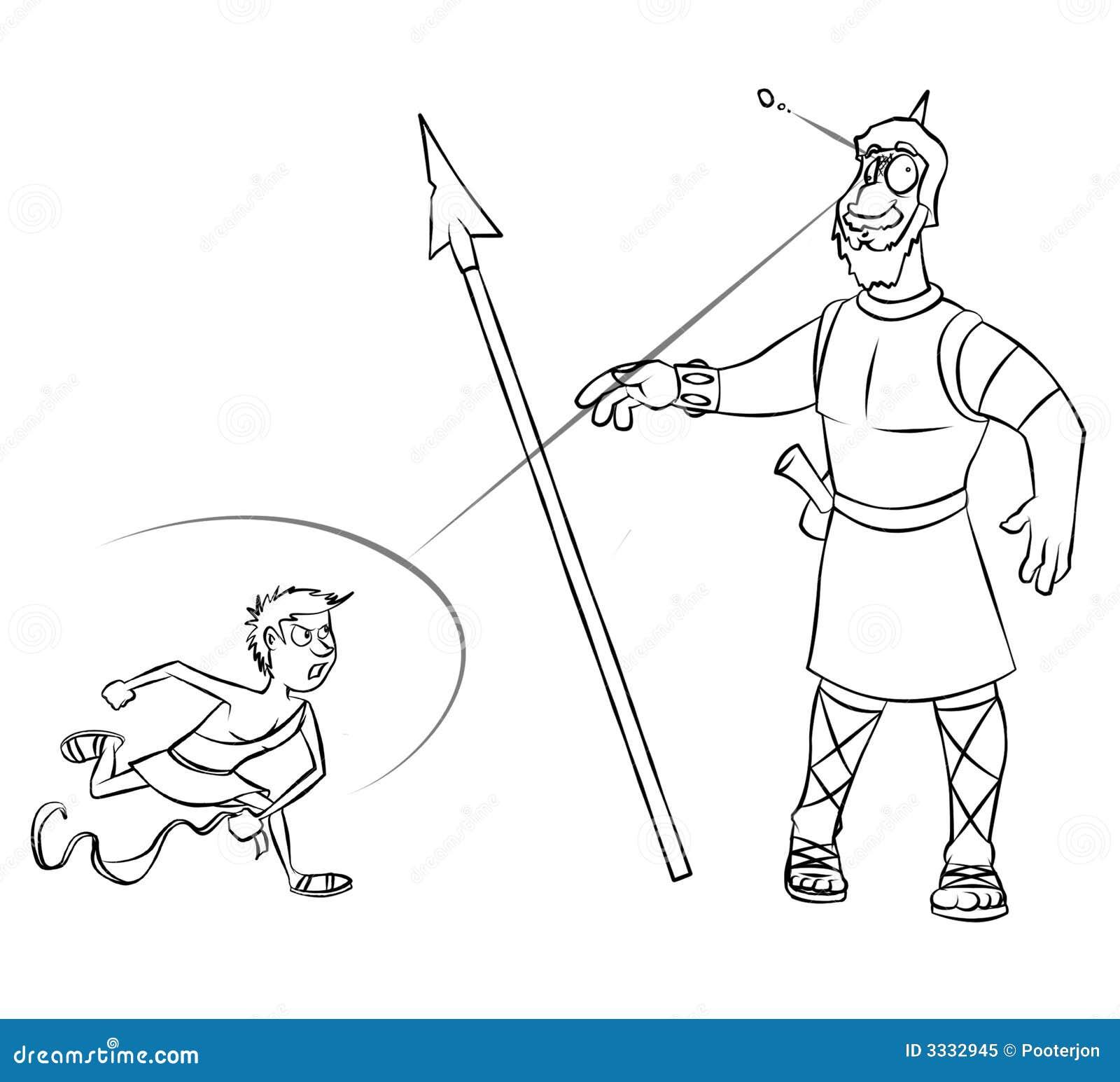 Kleurplaten Prinsenmuts David En Goliath Kleurplaat