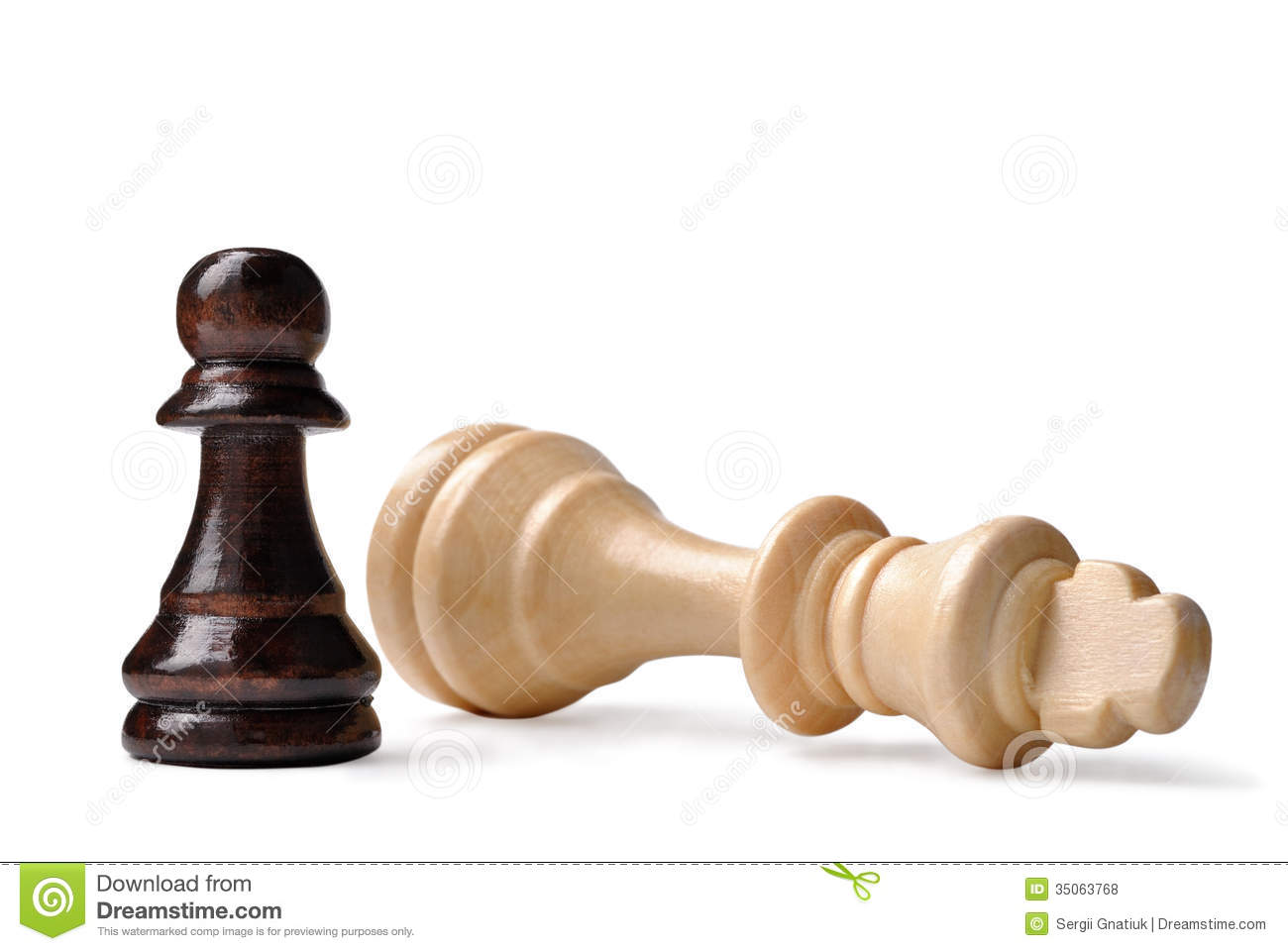 David And Goliath Syndrome In Chess Royalty Free Stock