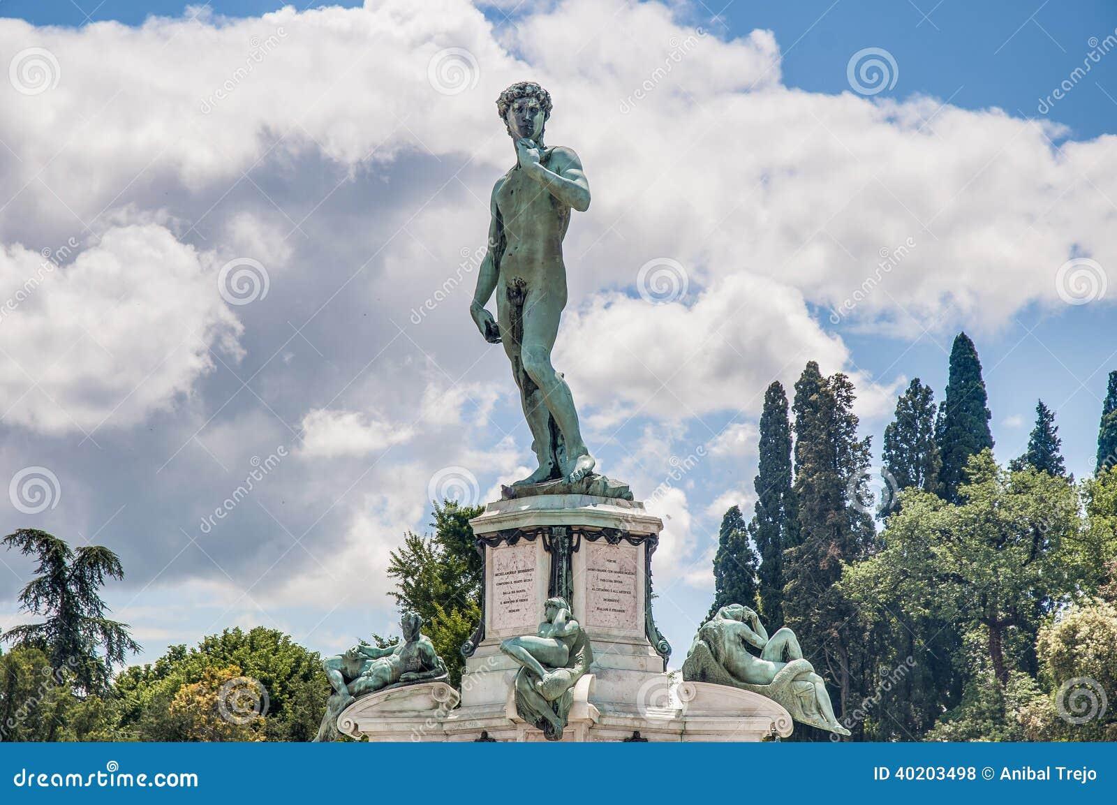 David in Piazzale Michelangelo in Florence, Italië