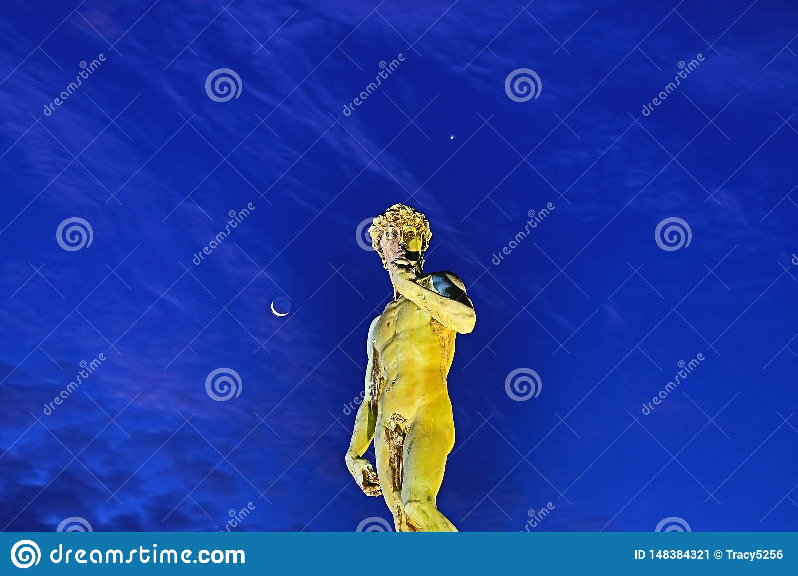 David in Piazzale Michelangelo in Florence, Itali?
