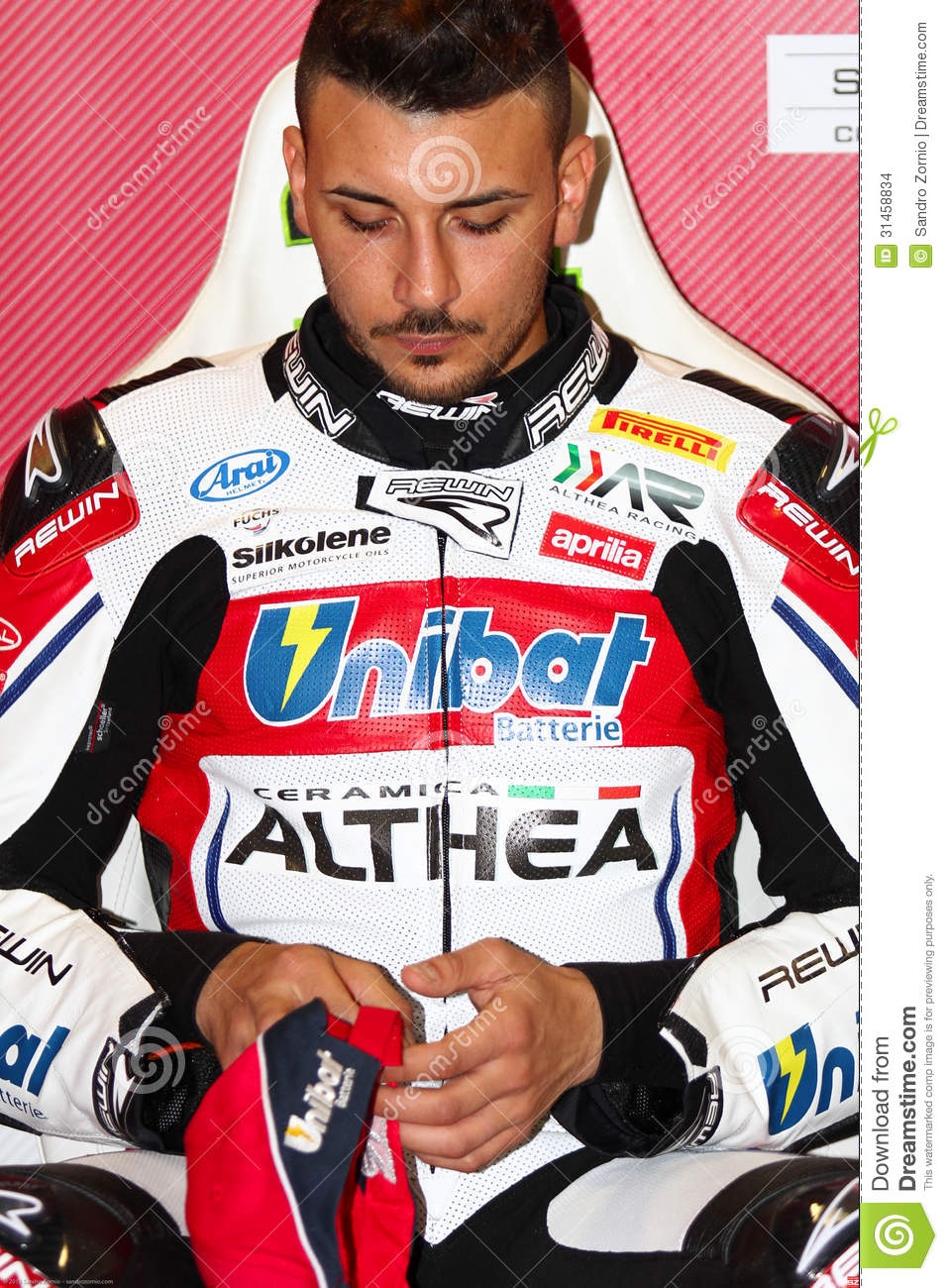Davide Giugliano #34 on Aprilia RSV4 1000 Factory with Althea Racing Team Superbike WSBK