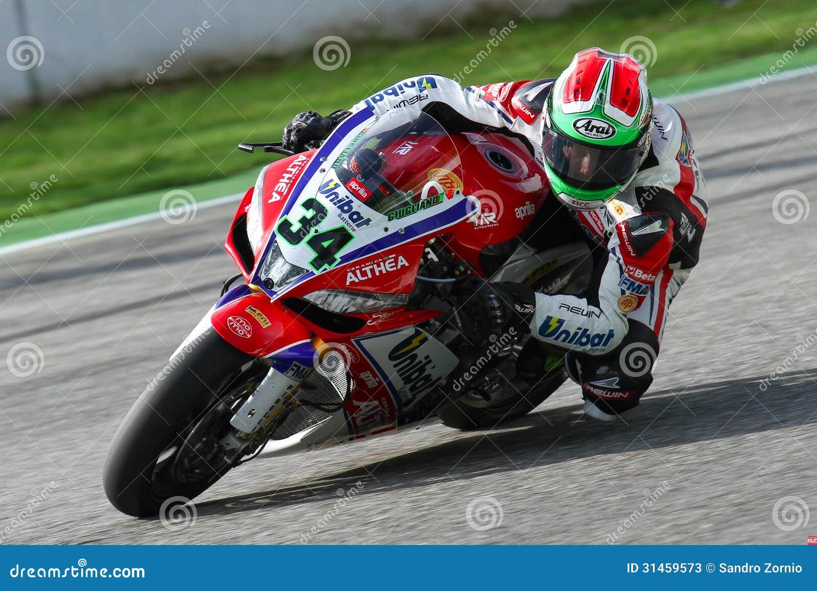 Davide Giugliano #34 on Aprilia RSV4 1000 Factory with Althea Racing Team Superbike WSBK