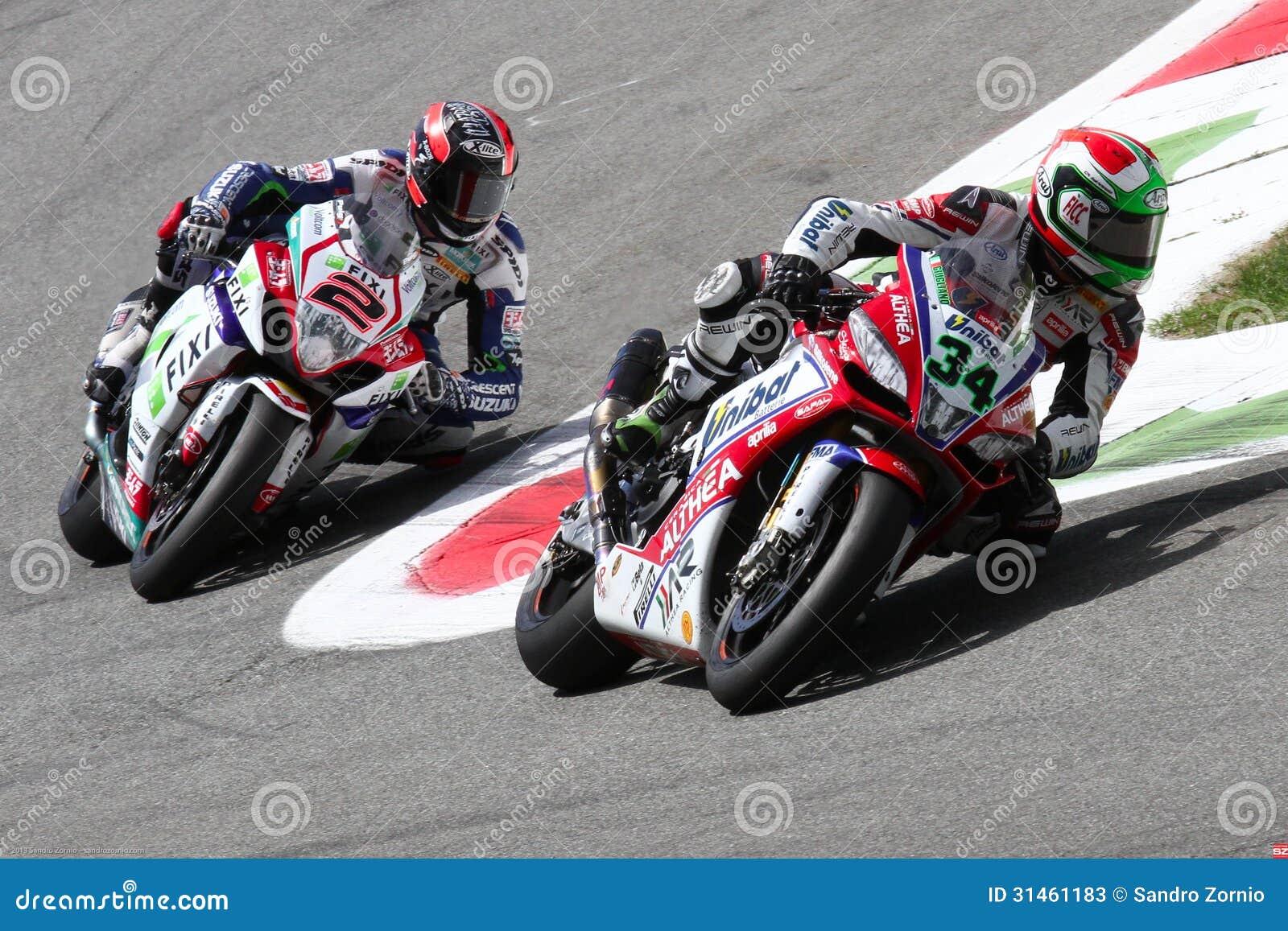 Davide Giugliano and Leon Camier in the Superbike WSBK