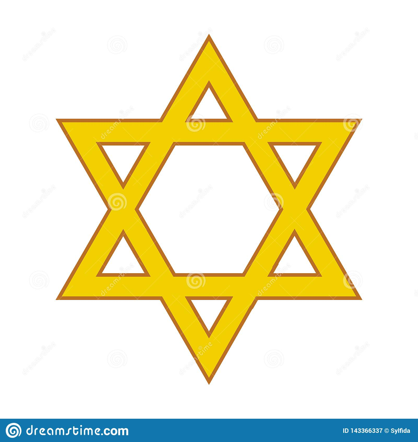 Davidsstjärna religiöst symbol också vektor för coreldrawillustration