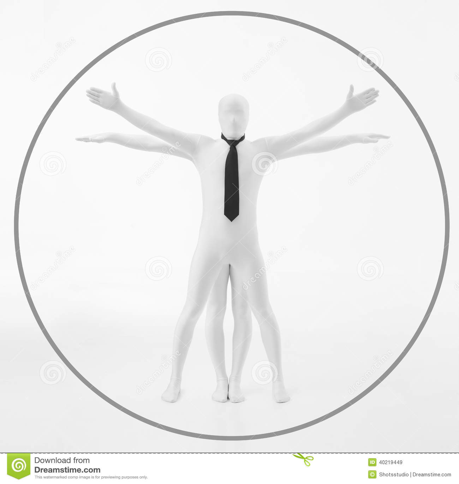 Davinci vitruvian白人