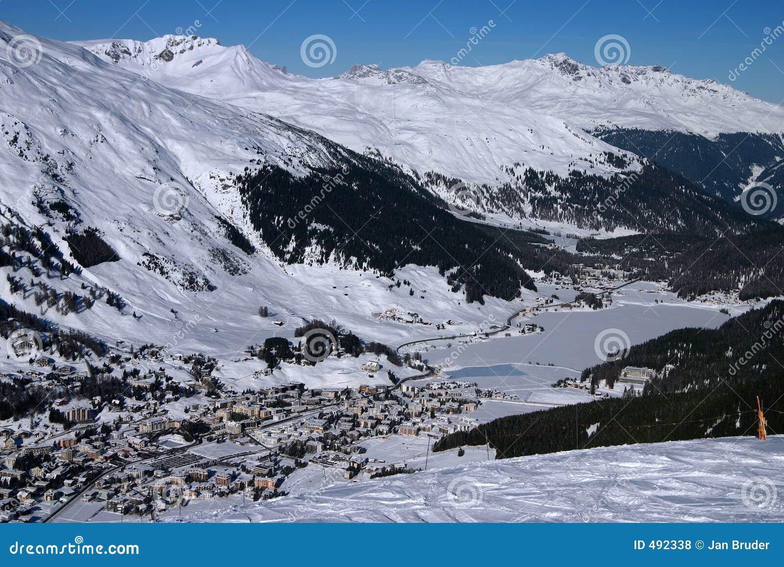 Davos för 1 alpsstad