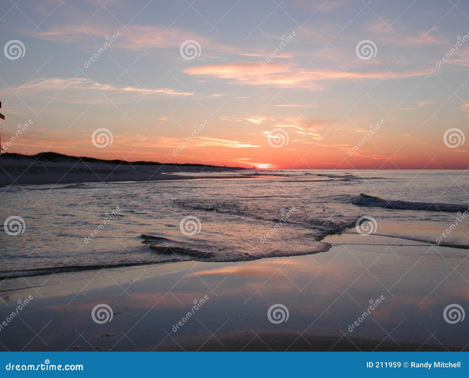 Dawn bij het Strand