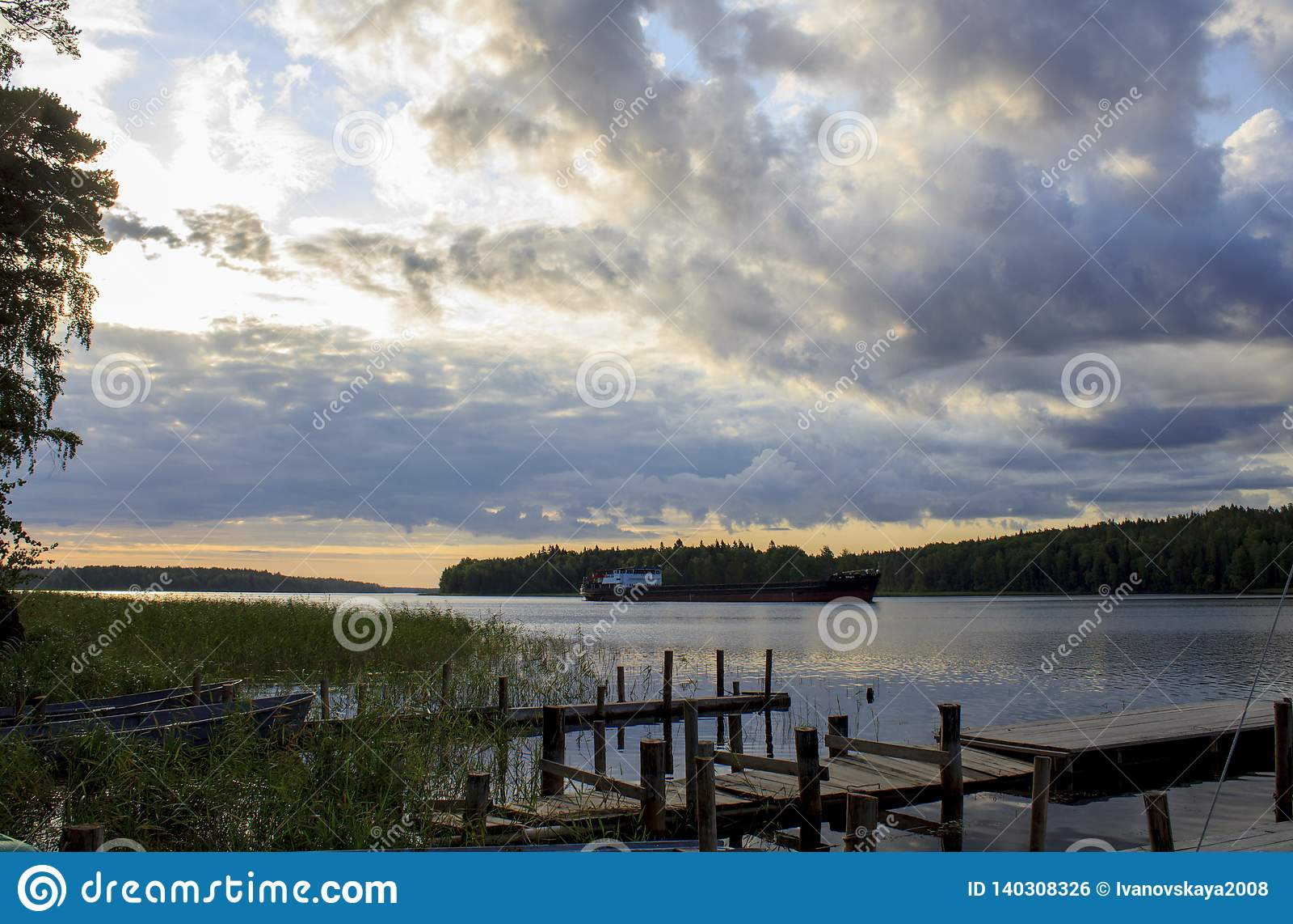Dawn on Lake Ladoga