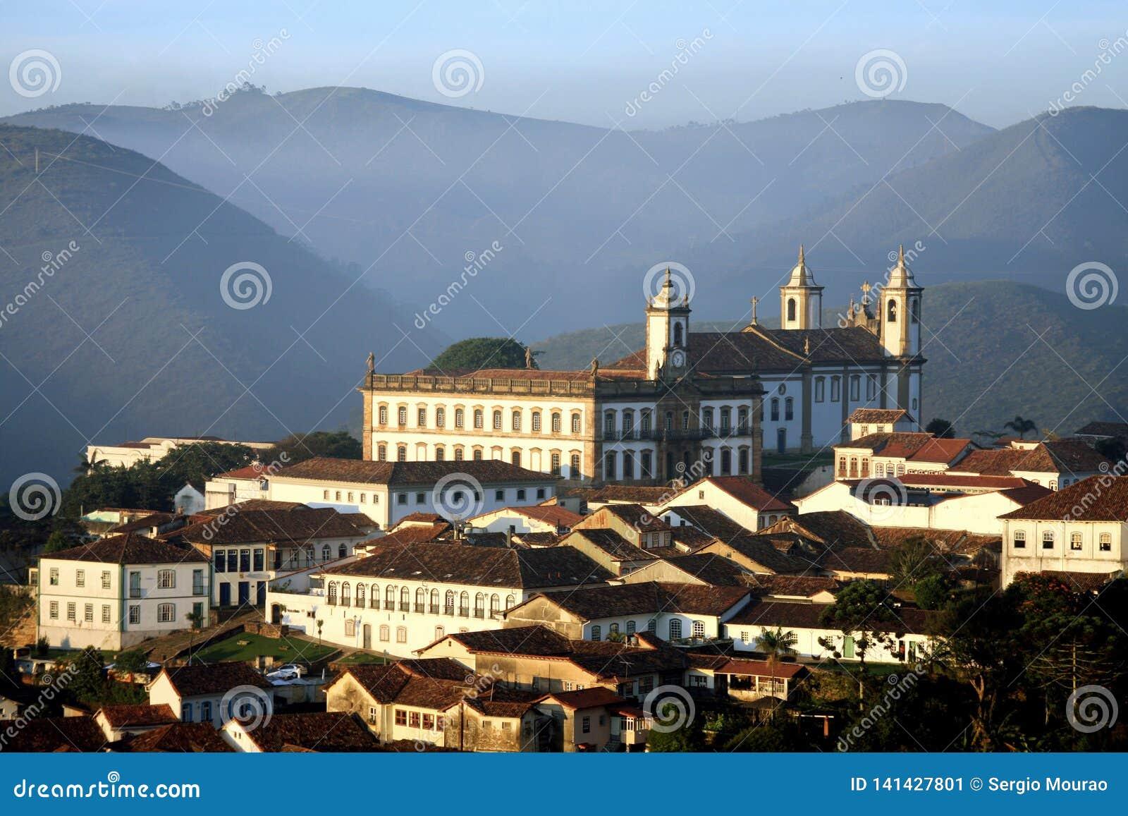 Dawn in Ouro Preto partial view