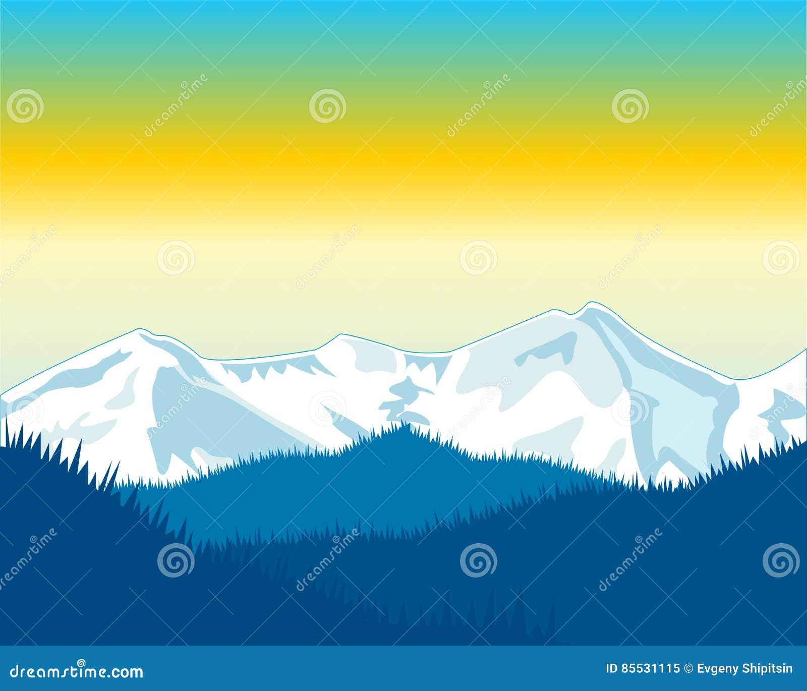 Dawning in mountain