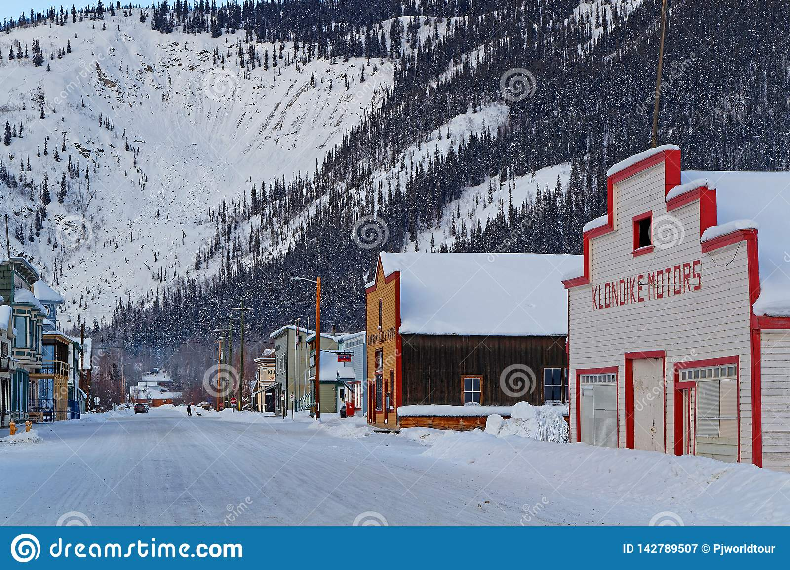 A Street Of The Klondike Gold Rush City Editorial Photography