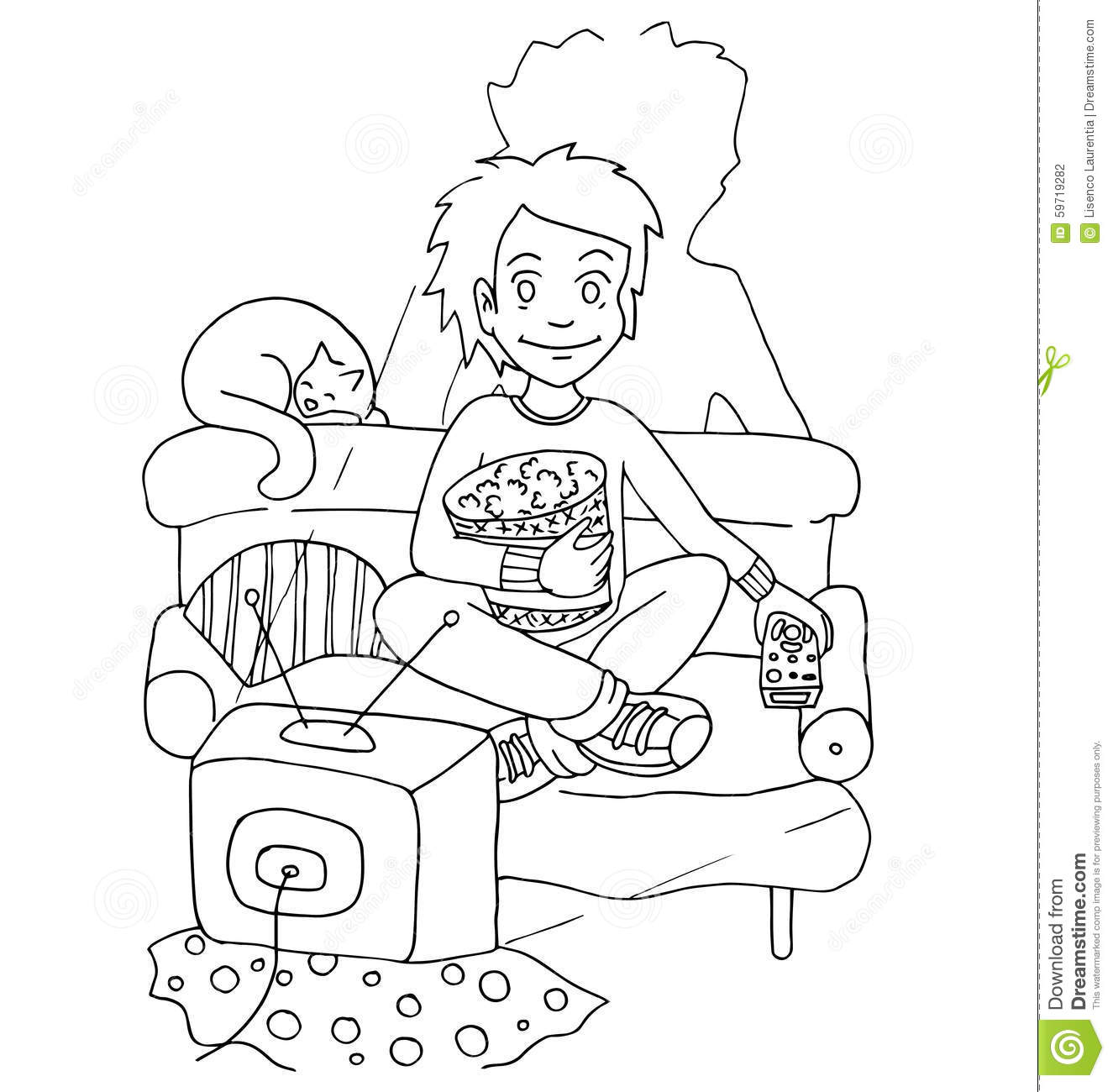 girl make bed clipart