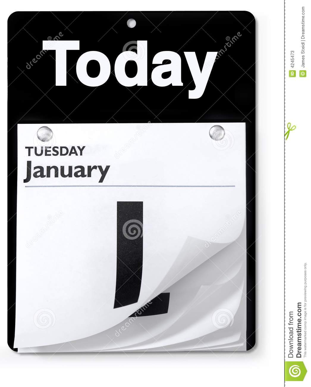 Day Calendar Orthographic View Stock Photos - Image: 4245473