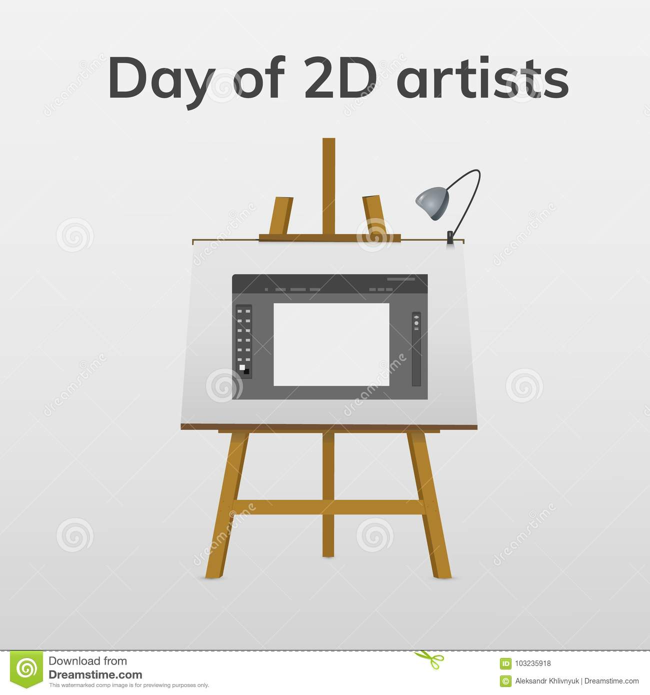Day 2d artists stock illustration illustration of line 103235918 greeting card holiday day of 2d artists illustration on easel m4hsunfo