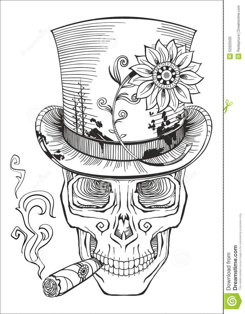 Day Of The Dead, Baron Samedi Drawing Stock Vector ...