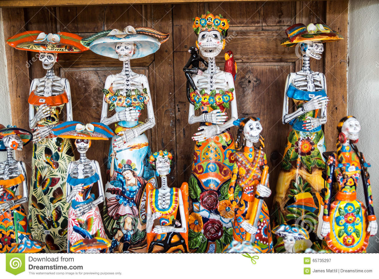 day of the dead crafts stock image image of ceramic 65735297