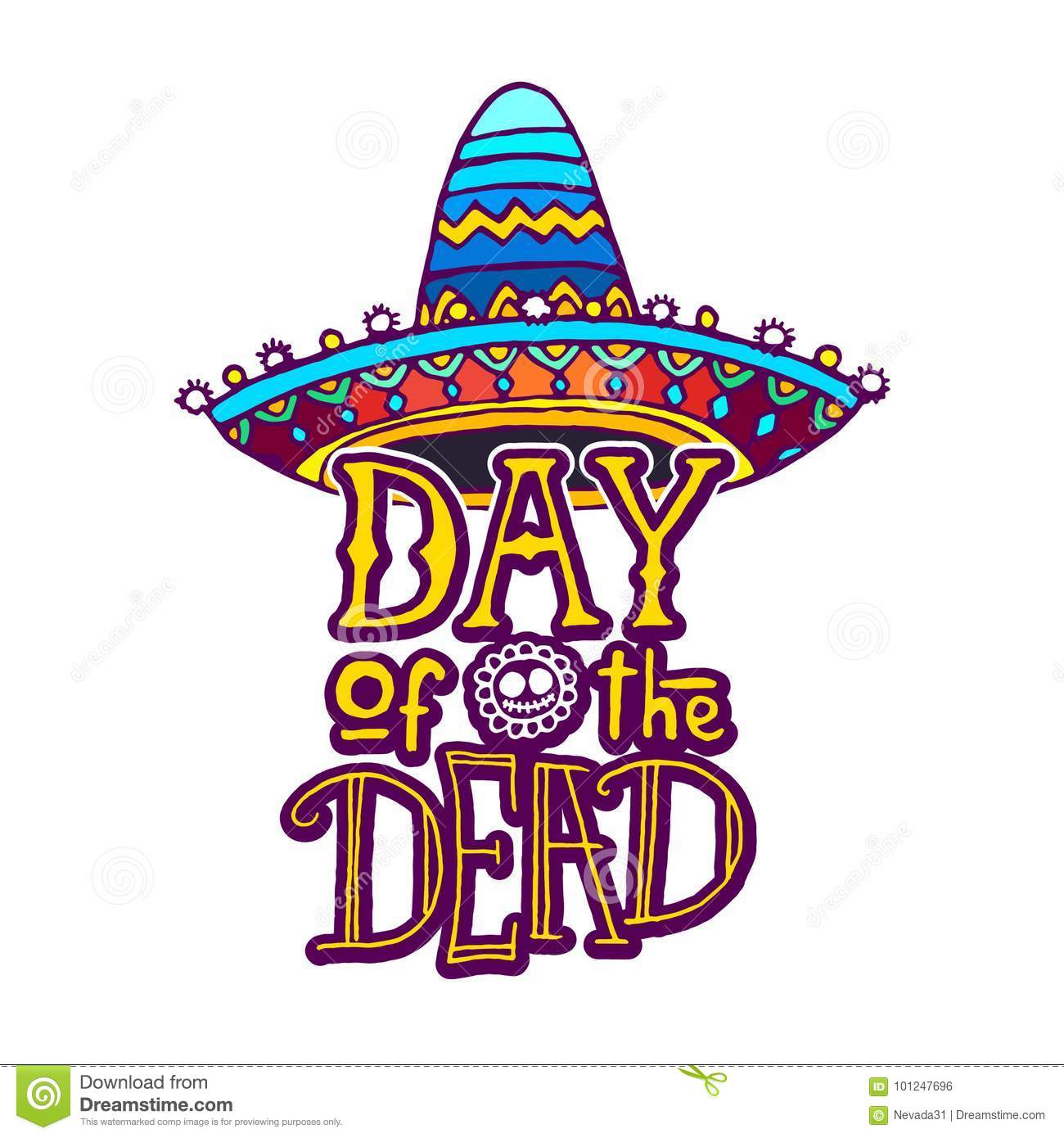 Day Of The Dead Template | Day Of The Dead Design Template Stock Illustration Illustration Of