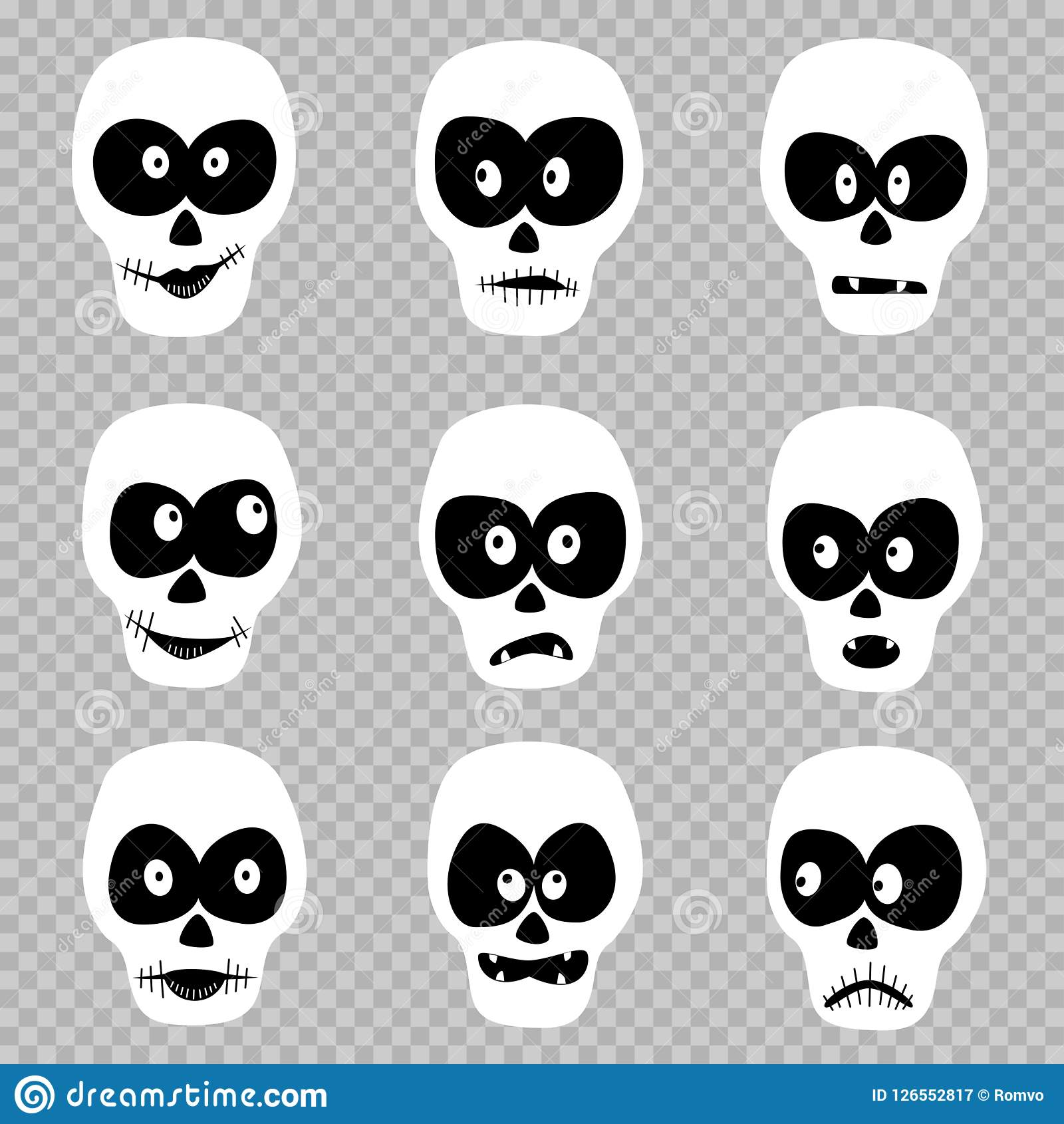 Day Of The Dead Masks Set Stock Vector Illustration Of Happy