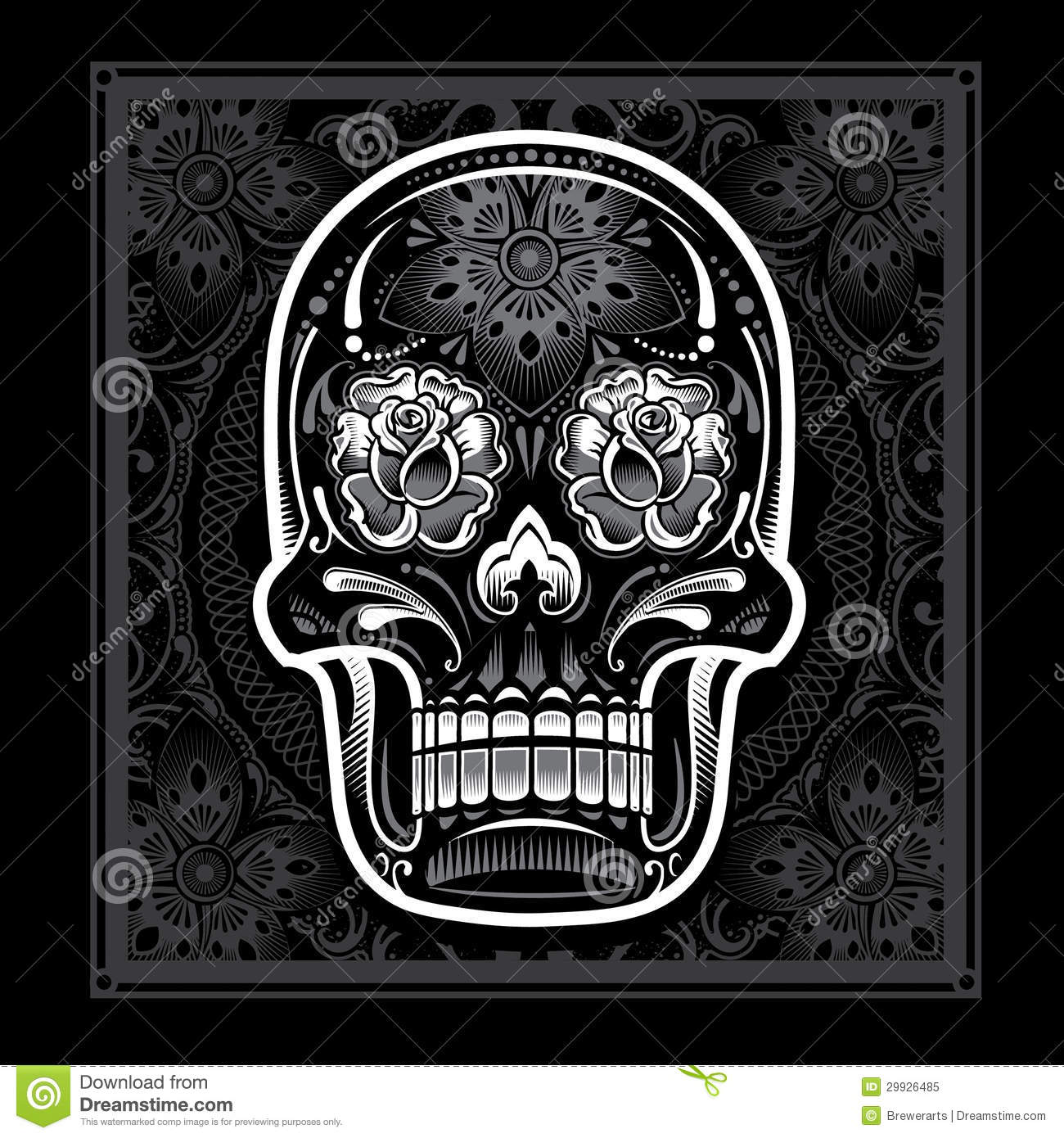 day of the dead candy skull stock vector illustration of floral