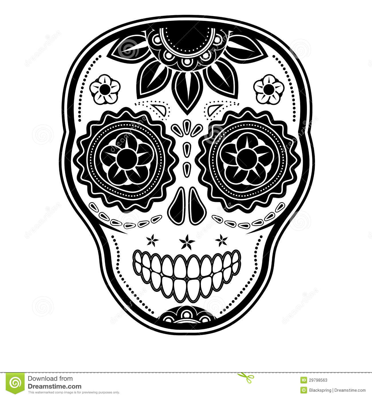 Day Of The Dead Sugar Skull Stock Vector Image 29798563