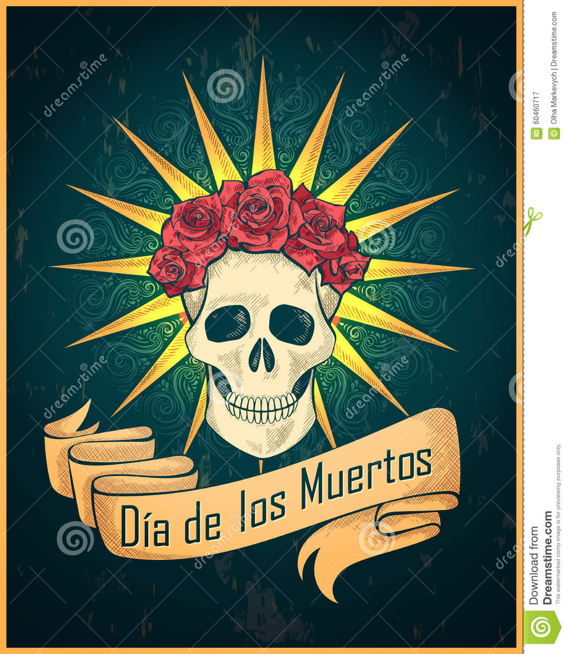 day of the dead stock vector image 60460717