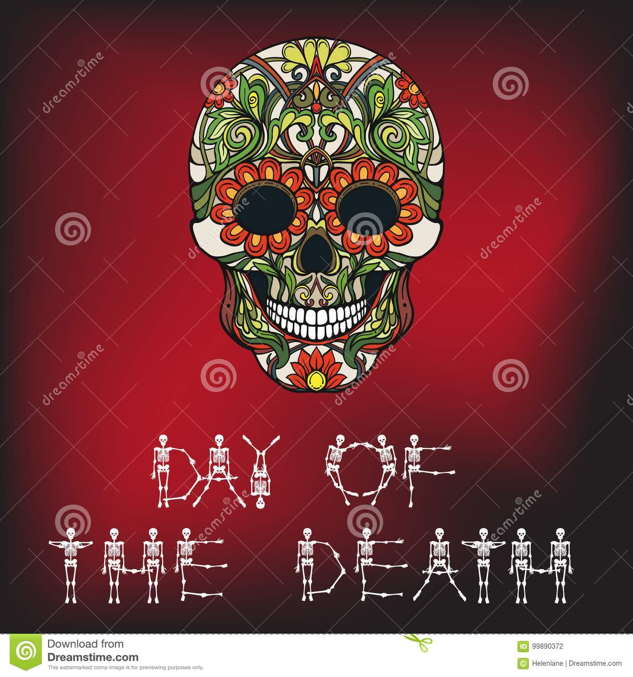 Day of the death banner with sugar skull stock vector day of the death banner with sugar skull buycottarizona Images